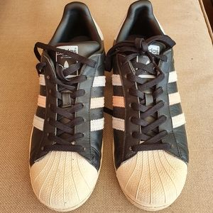 Adidas Superstars, Sz 9, Black
